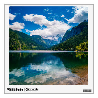Mountain Valley Lake Wall Decal