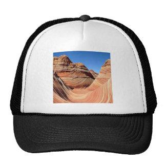 Mountain Valley Swirl Landscape Mesh Hats