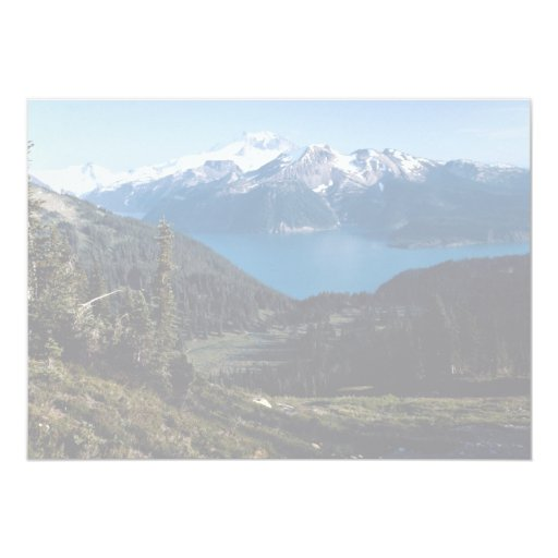 Mountain valley with lake and peaks, British Colum Invites