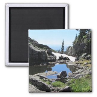 Mountain View 2 Inch Square Magnet
