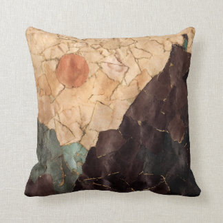 Mountain View Abstract Throw Pillow