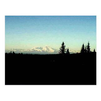 Mountain view across Cook Inlet, Homer, Alaska Postcard