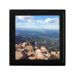 Mountain view at the top of Pikes Peak Trinket Boxes