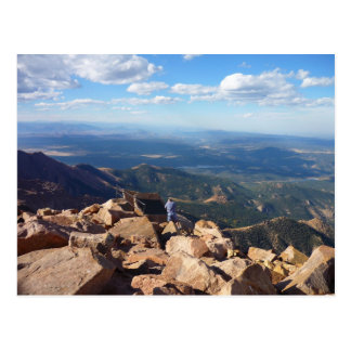 Mountain view at the top of Pikes Peak Postcard