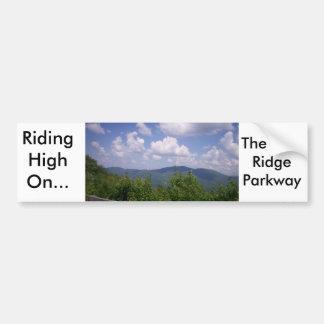 Mountain View azul de la ruta verde de Ridge Pegatina Para Auto