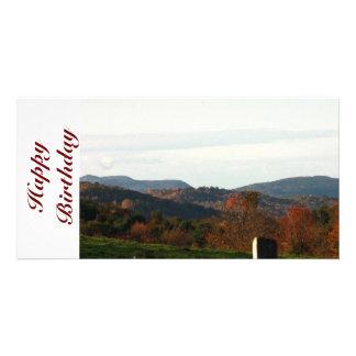 Mountain View Birthday Card Photo Card
