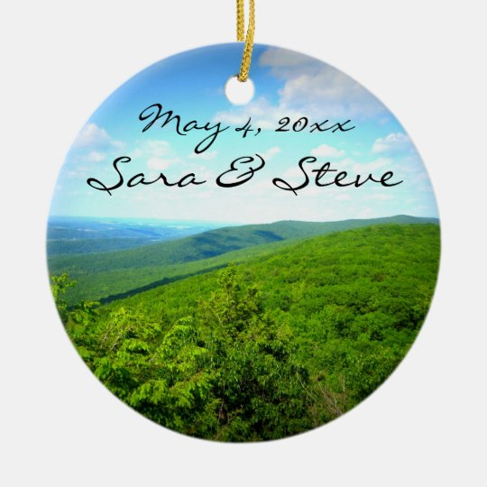 Mountain View Customizable Wedding Ornament