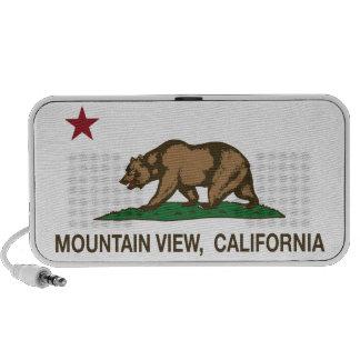 Mountain View de la bandera del estado de Californ Laptop Altavoces