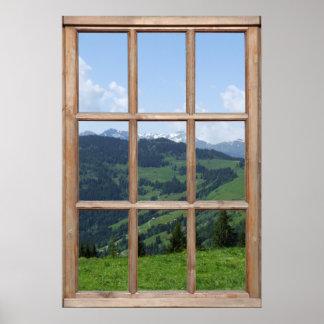 Mountain View de una ventana Posters