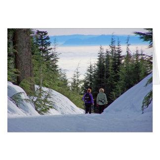 Mountain View del invierno Tarjeta De Felicitación