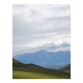 Mountain View del paso de Hatchers Alaska Membretes Personalizados