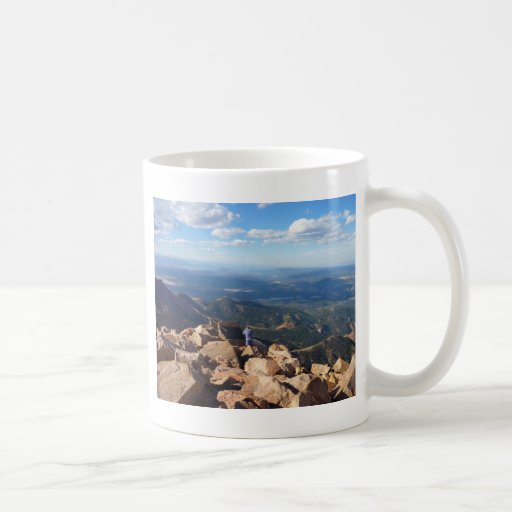 Mountain View en la cima del pico de los lucios Taza De Café