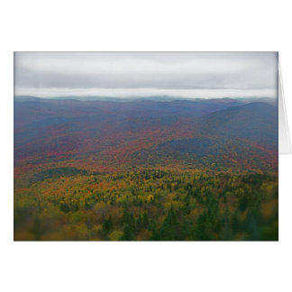 Mountain View fall folliage in Vermont Card