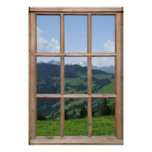 Mountain View from a Window Poster