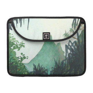 Mountain View From Kee'e Beach Sleeves For MacBook Pro