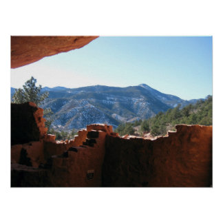 Mountain View from Manitou Springs Cliff Dwelling Poster