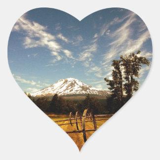 mountain view heart sticker