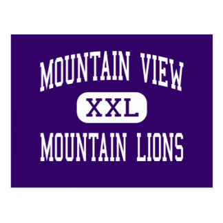 Mountain View - leones de montaña - alto - Tarjetas Postales
