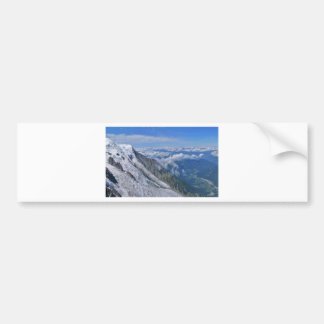 Mountain View Looking Down From The Clouds Bumper Sticker