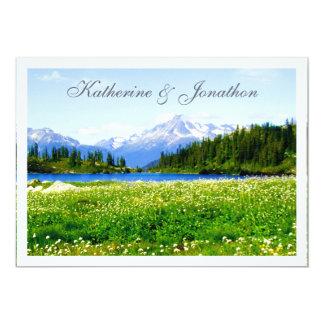 Mountain View Meadow Wedding Invitation