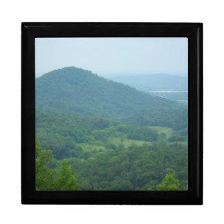 Mountain view photo on  gift box