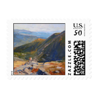 """Mountain View"" Postage - Medium"