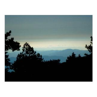 mountain view postcard