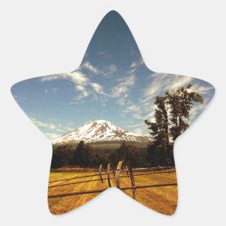 mountain view star sticker