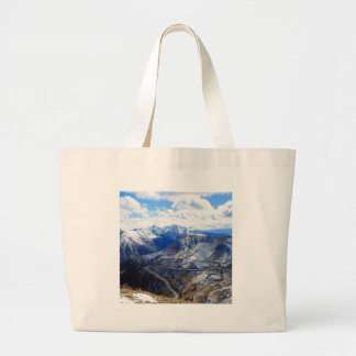 Mountain View Top Of World Tote Bags