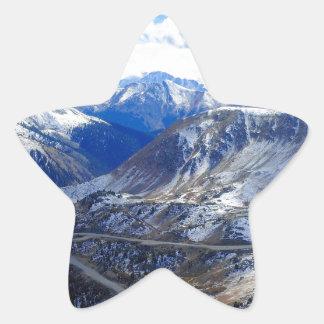 Mountain View Top Of World Star Sticker