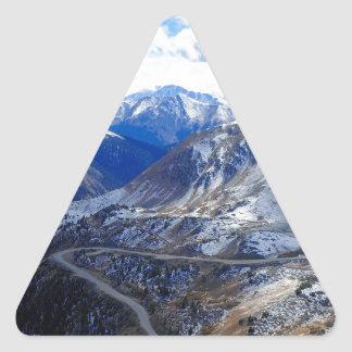 Mountain View Top Of World Triangle Sticker