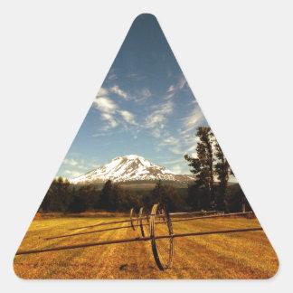 mountain view triangle sticker