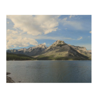Mountain View Wood Canvas