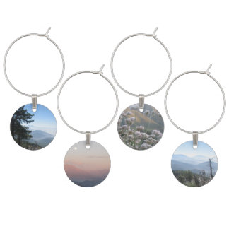 Mountain Views Wine Charm
