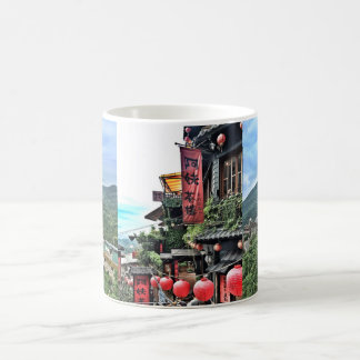 Mountain village and Chinese teahouse Coffee Mug