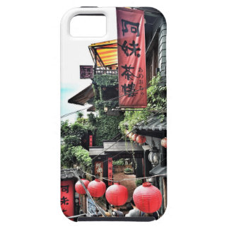 Mountain village and teahouse iPhone SE/5/5s case