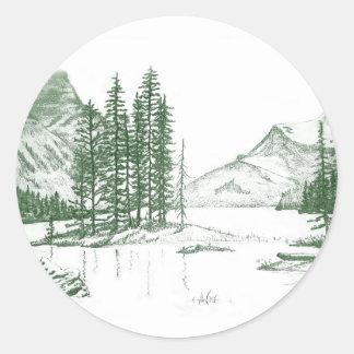Mountain Voice Classic Round Sticker