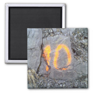 Mountain wall number 10 2 inch square magnet