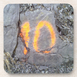 Mountain wall number 10 drink coasters