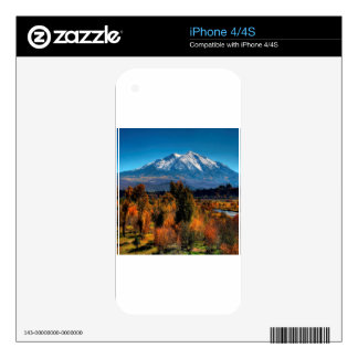 Mountain Warm Forest Cool Top Skins For iPhone 4S