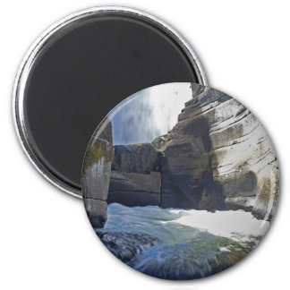 Mountain Water flow 2 Inch Round Magnet