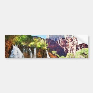 Mountain Waterfall Bumper Sticker