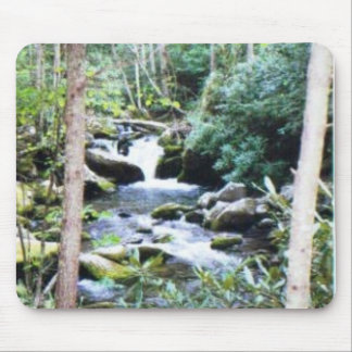 mountain waterfall over the rocks #71 mouse pad