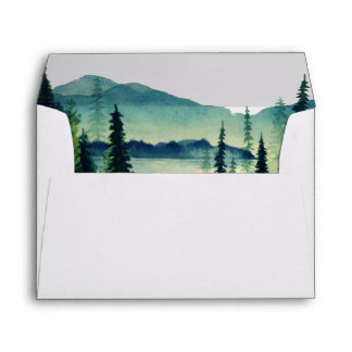 Mountain Wedding Coordinating Envelope