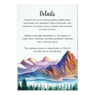 langdesignshop Mountain Wedding Enclosure Card