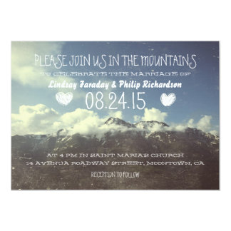 mountain wedding invitations & announcements | zazzle, Wedding invitations