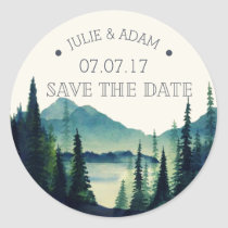 Mountain Wedding Save the Date Sticker