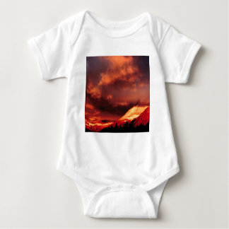Mountain Wilber Glacier Park Montana Baby Bodysuit