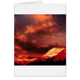 Mountain Wilber Glacier Park Montana Card