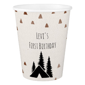 Mountain Wild One Party Paper Cups